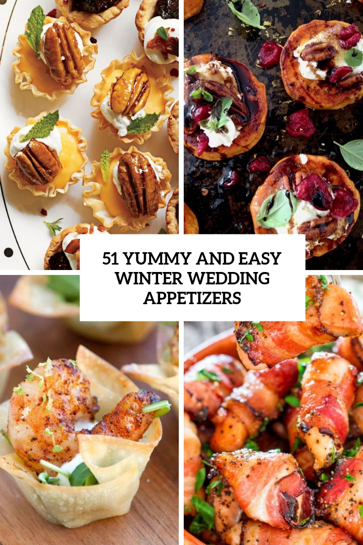 yummy and easy winter wedding appetizers cover