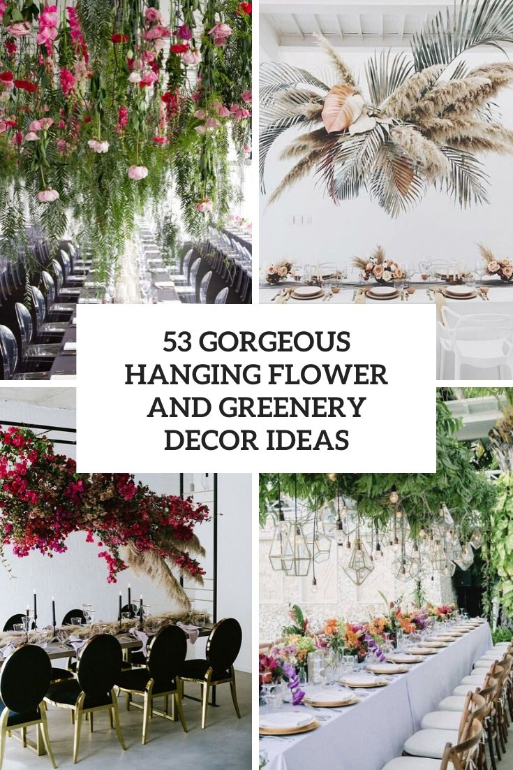 gorgeous overhead flower and greenery decor ideas cover
