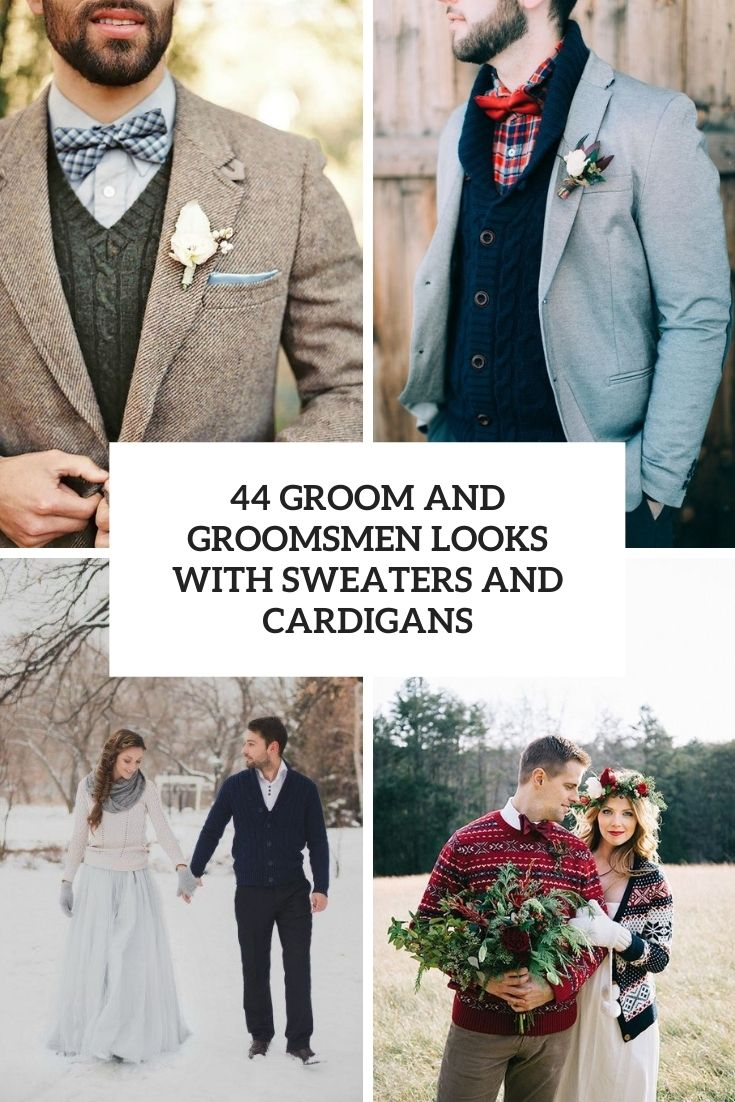 44 Groom And Groomsmen Looks With Sweaters And Cardigans