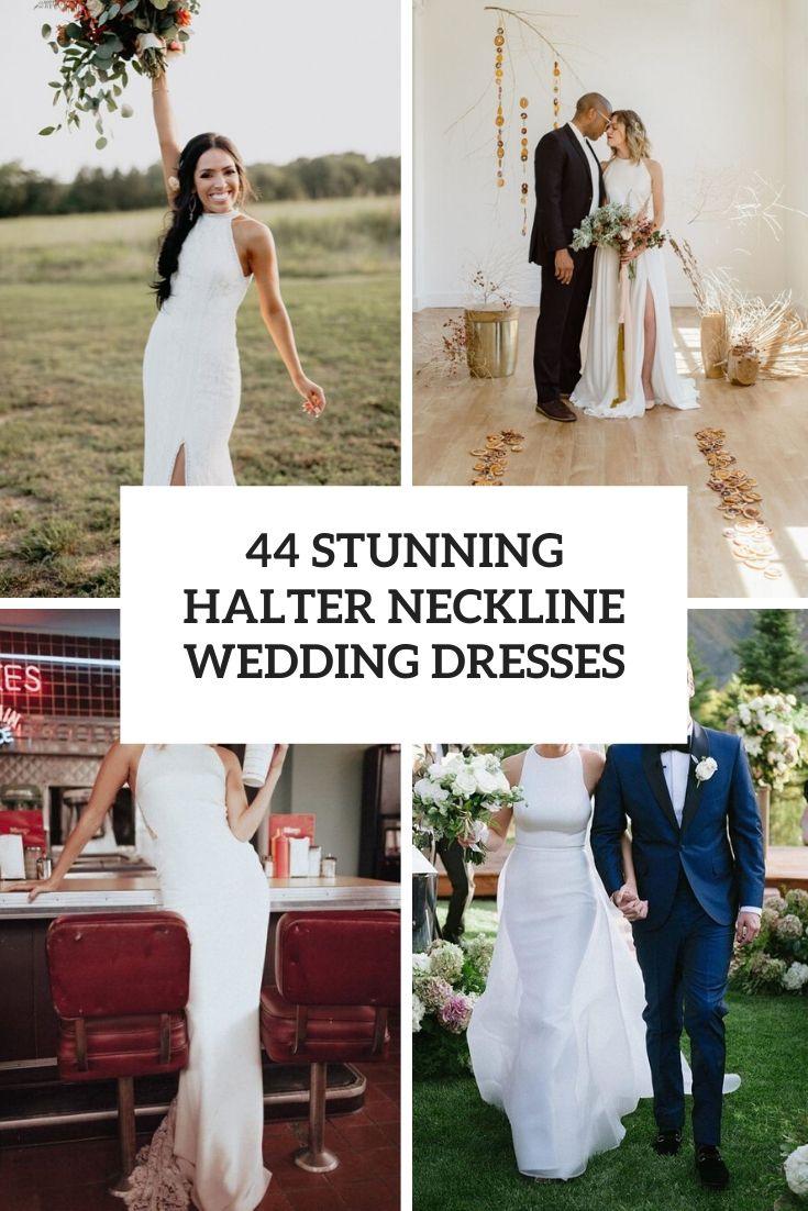 stunning halter neckline wedding dresses cover