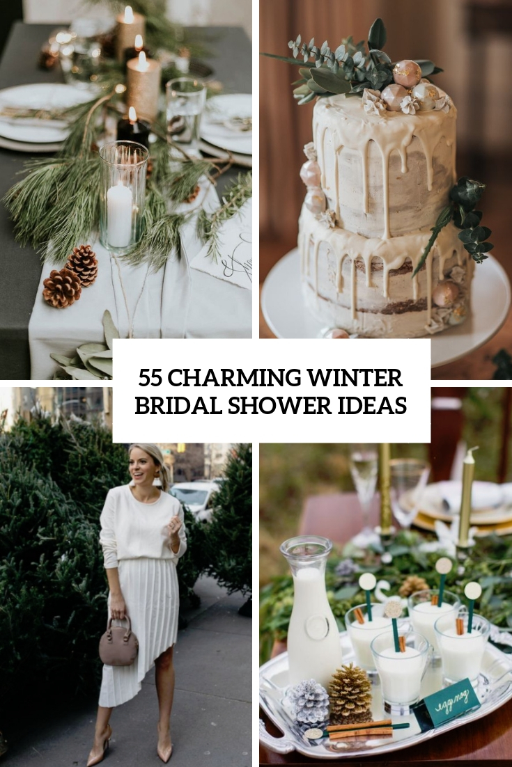 55 Charming Winter Bridal Shower Ideas