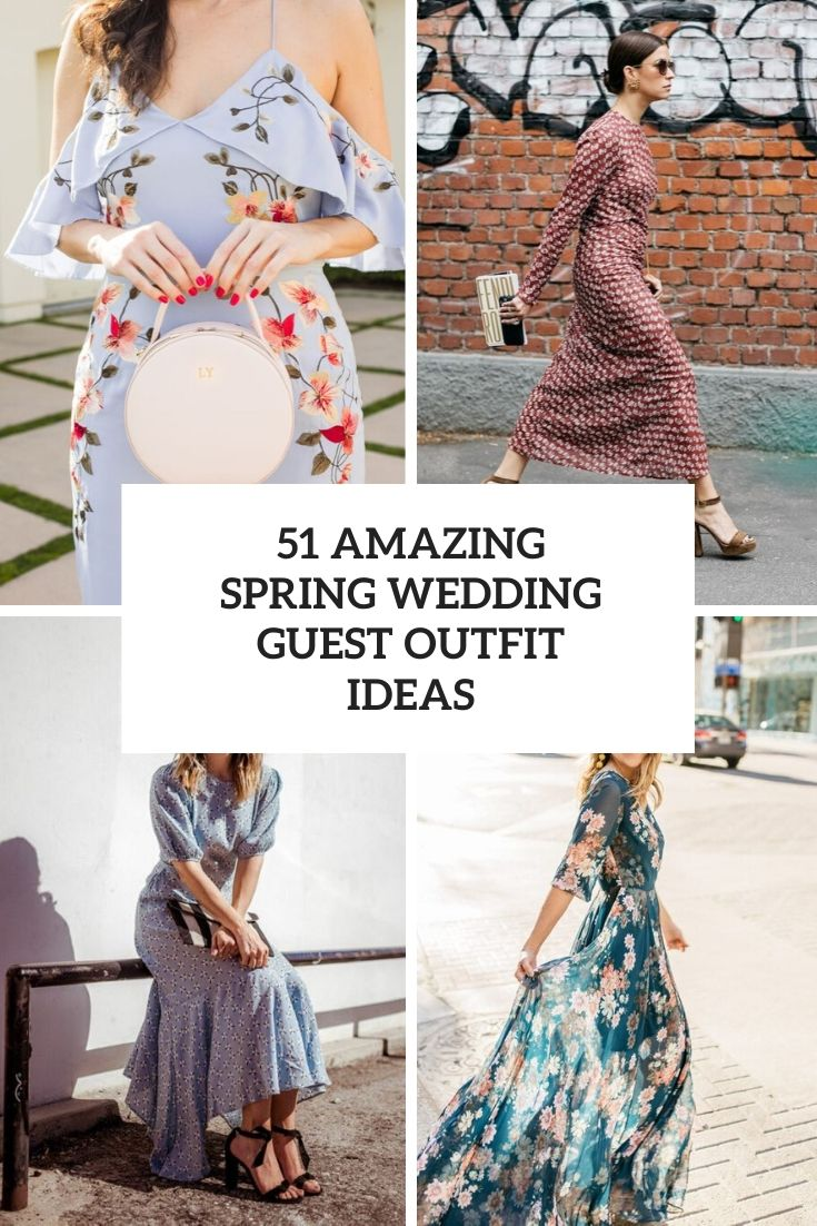 amazing spring wedding guest outfit ideas cover