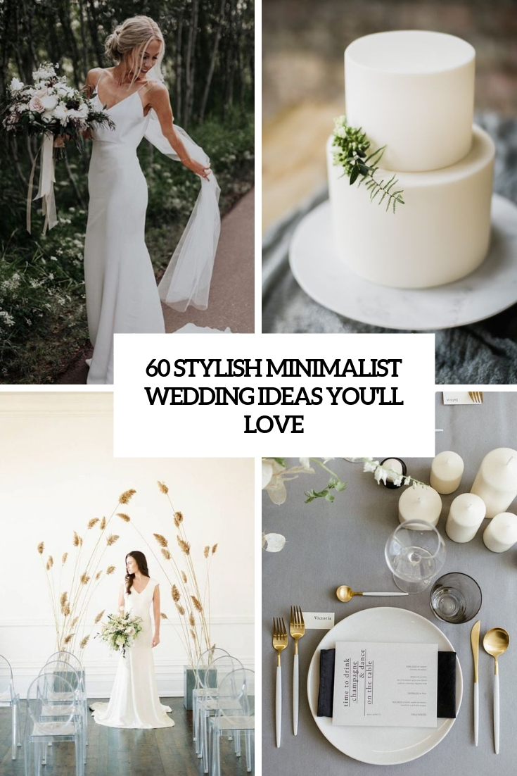 stylish minimalist wedding ideas you'll love cover