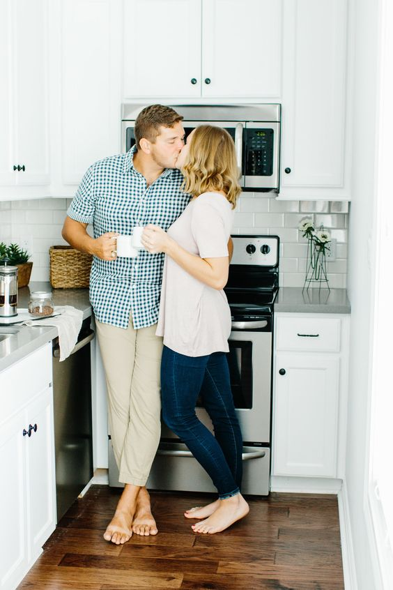 an at-home engagement session is also a good idea for any season, and it's very homey and cozy