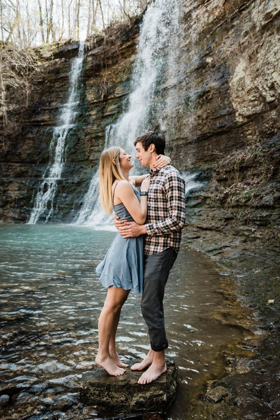 going to special and memorable places during your engagement photo shoot is a great idea