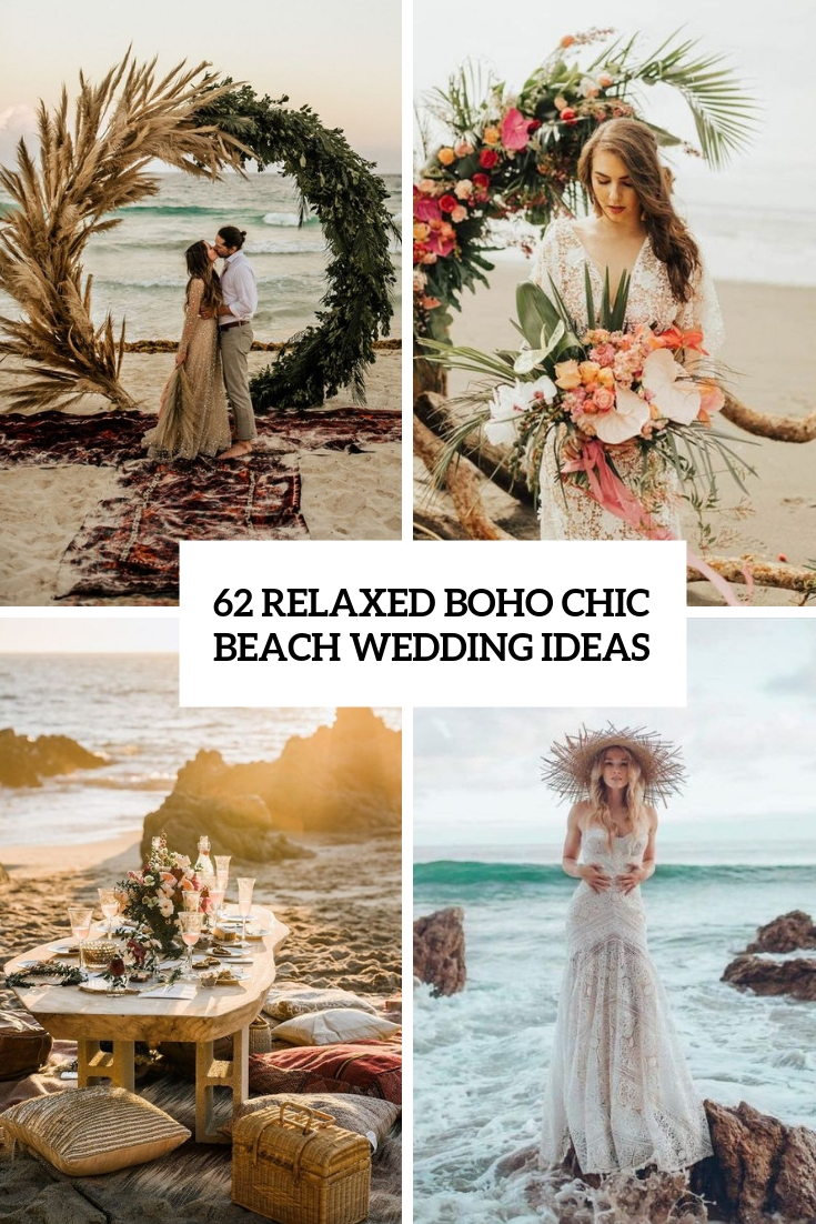 relaxed boho chic beach wedding ideas cover