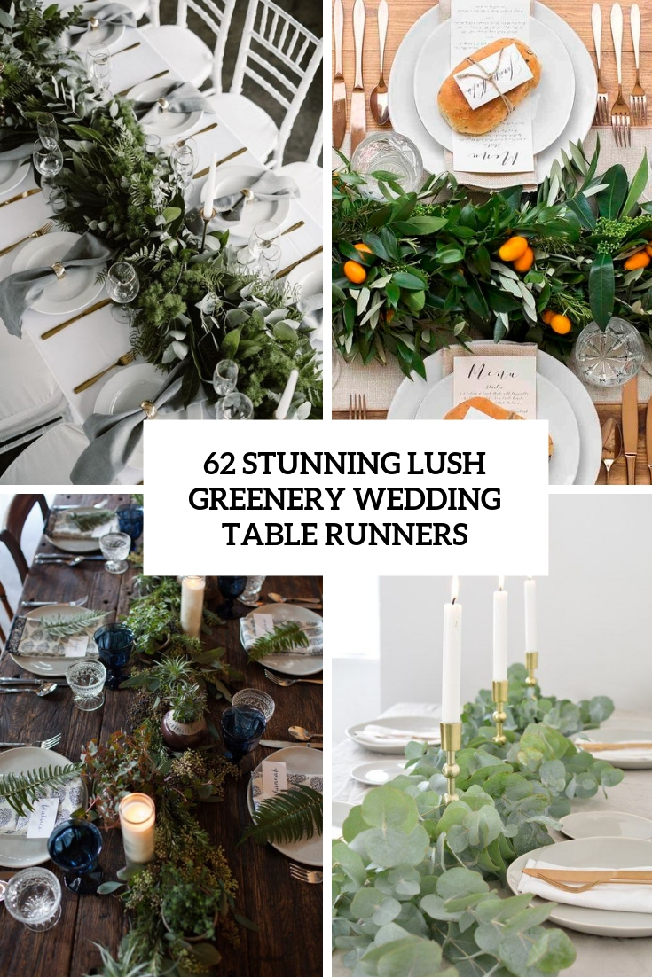 stunning lush greenery wedding table runners cover