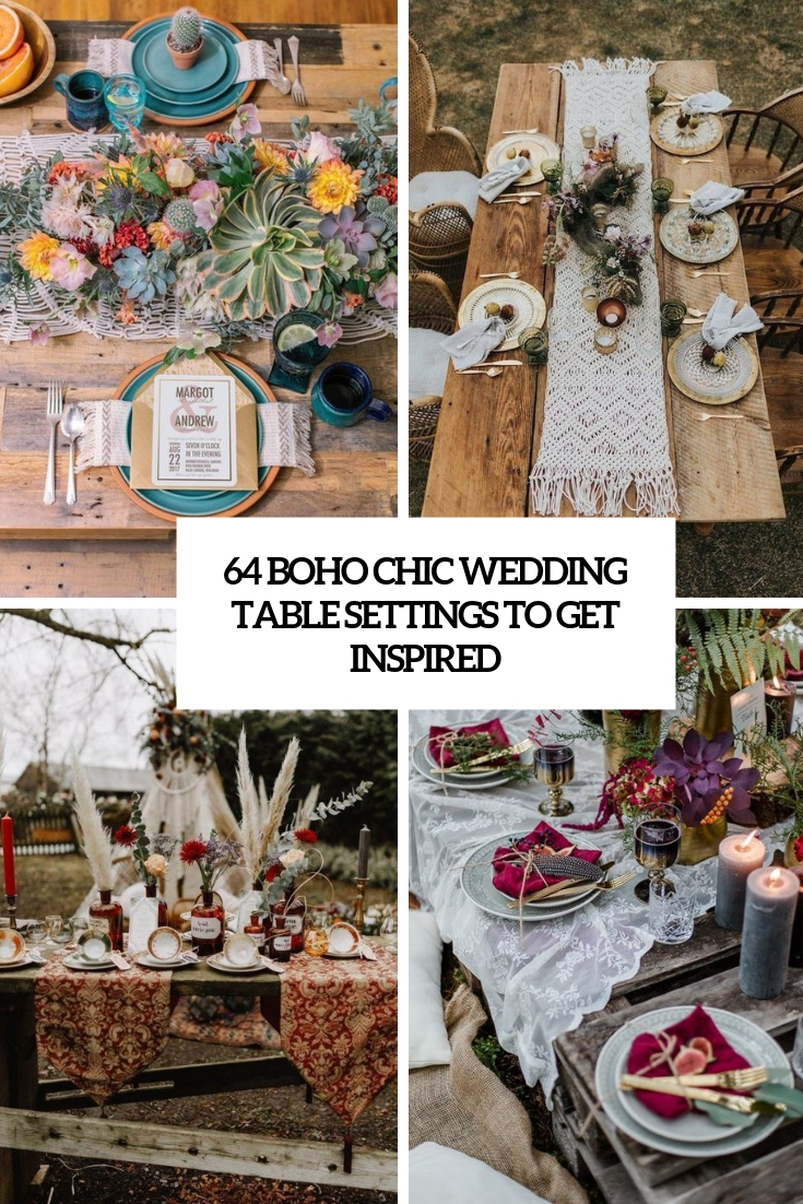 boho chic wedding table settings to get inspired cover