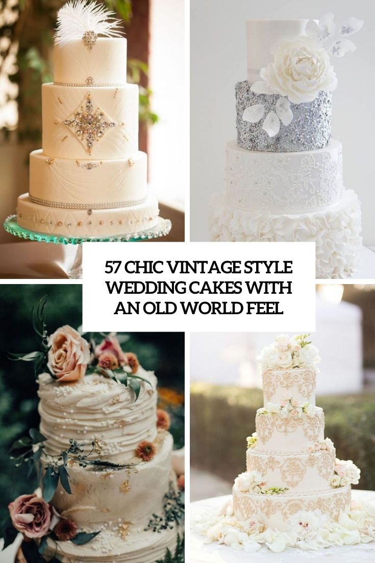chic vintage style wedding cakes with an old world feel cover