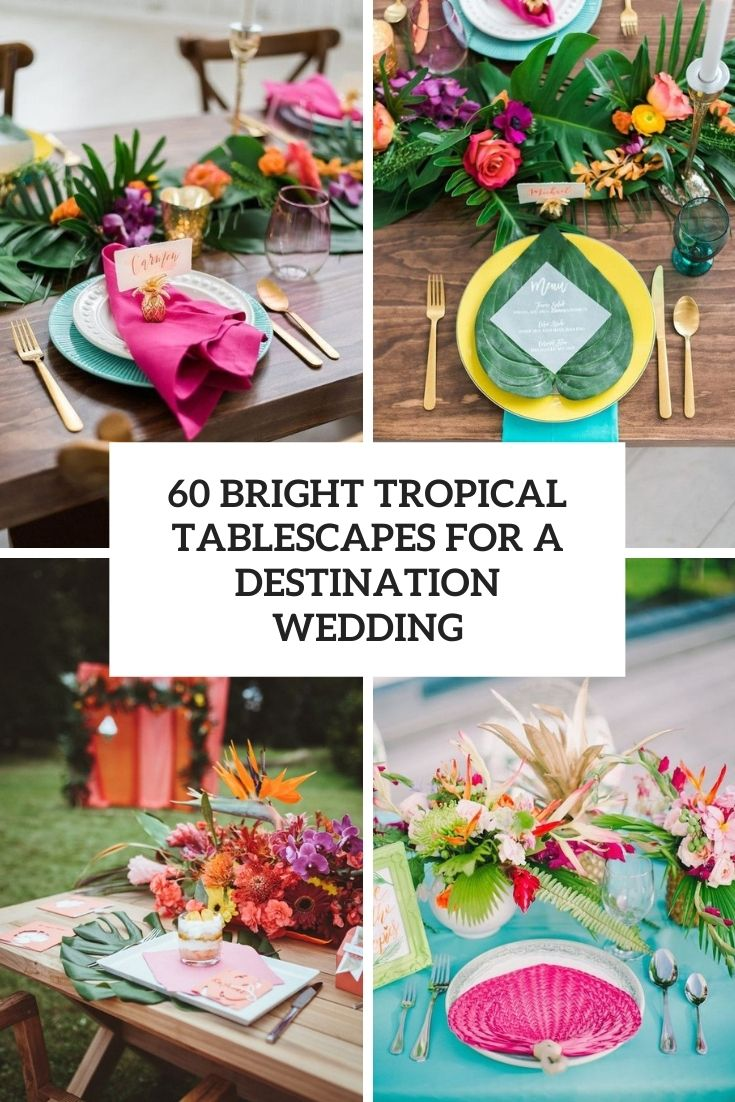 bright tropical tablescapes for a destination wedding cover
