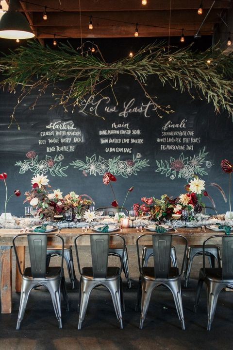 a chalkboard wall can be decorated in many different ways with colorful and neutral chalk
