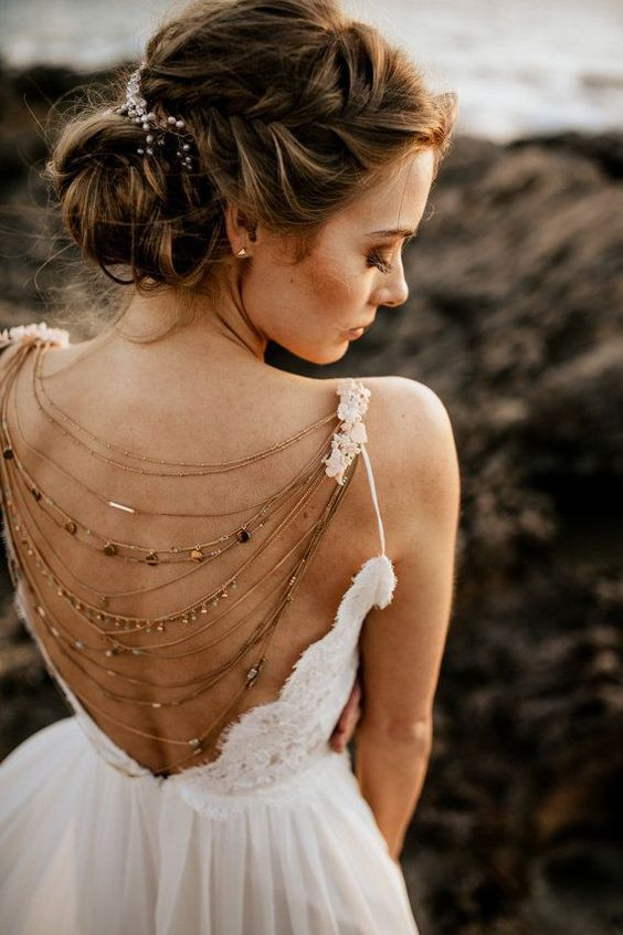 a boho lace wedding dress