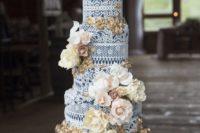 an amazingly stylish lace wedding cake