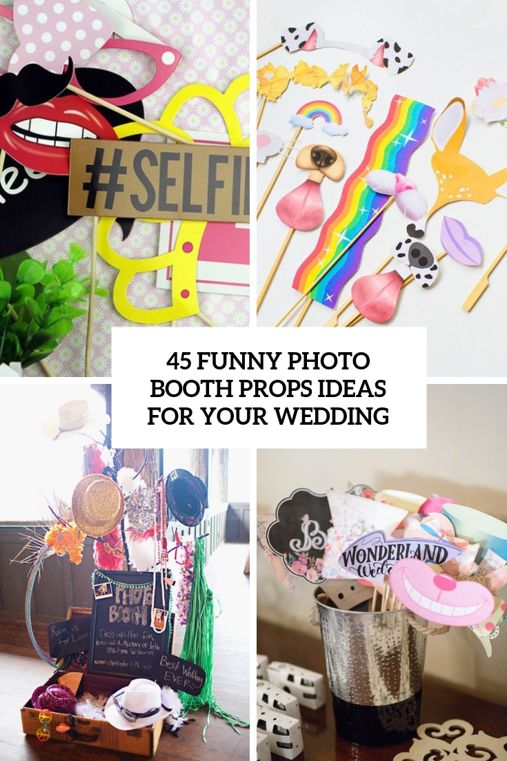 funny photo booth props ideas for your wedding cover