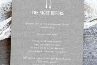 cool invitations for a rustic rehersal dinner