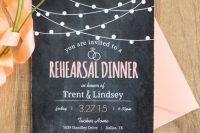 a cool summer rehearsal dinner invitations