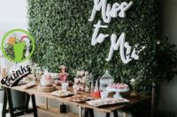 a living wall backdrop is always great for wedding photography