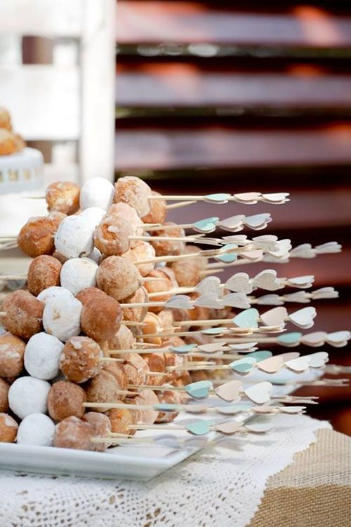 fun s'more kebobs will be a nice dessert at the bridal shower, they are enjoyable