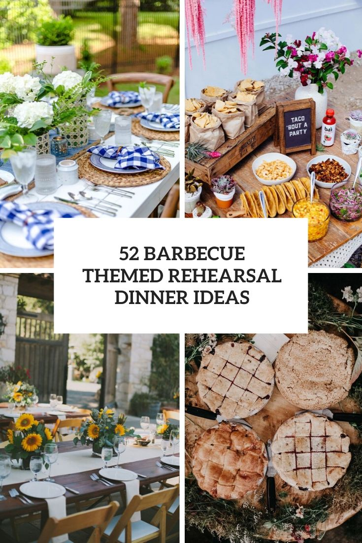 barbecue themed rehearsal dinner ideas cover