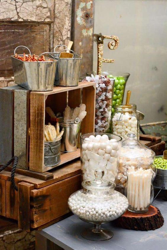 45 Adorable Candy Bar Ideas For Your Wedding Weddingomania