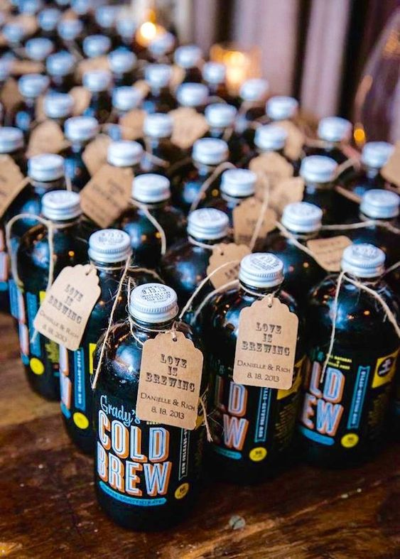 cold brew coffee is a nice idea for a wedding on a hot day, and it can be both for kids and adults