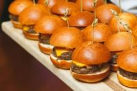 serve your favorite burgers for the cocktail hour, in lieu of stationed bites, don't waste much money on them