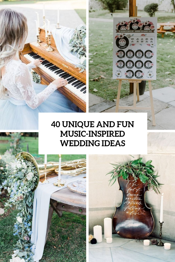 unique and fun music inspired wedding ideas cover