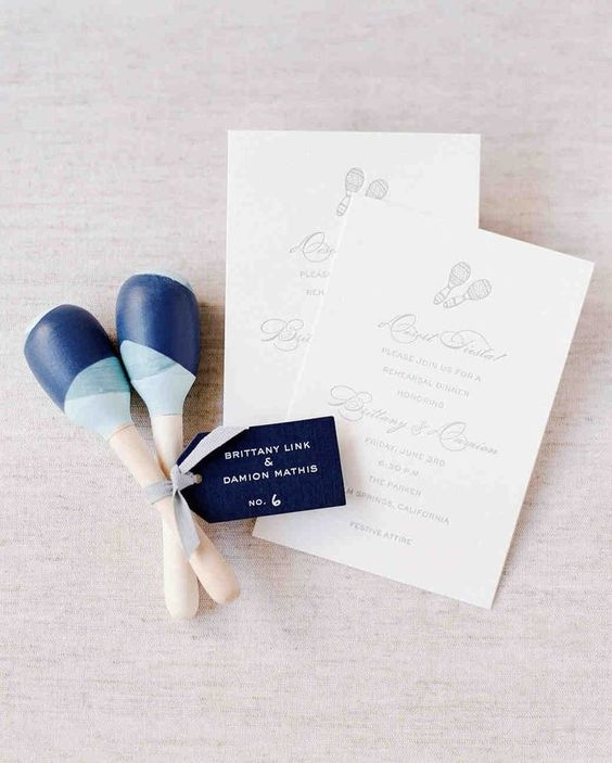 maracas as rehearsal dinner or wedding favors for a playful touch