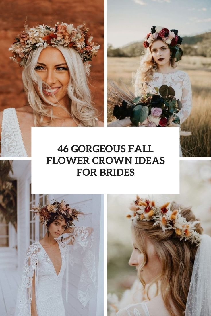46 Gorgeous Fall Flower Crown Ideas For Brides