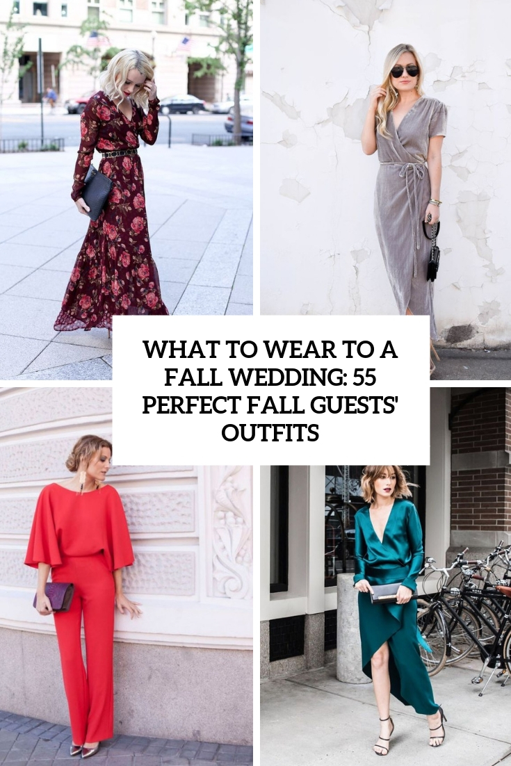 55 Perfect Fall Wedding Guests Outfits Weddingomania,Bridesmaid Red Dresses For Wedding