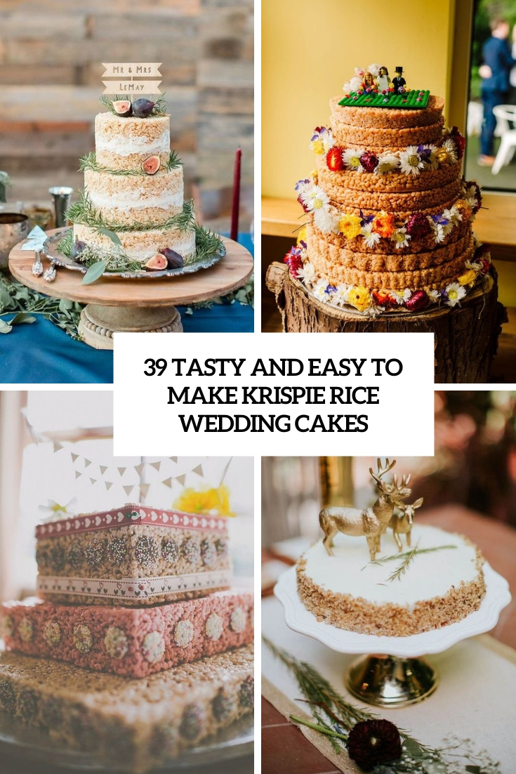 tasty and easy to make krispie rice wedding cakes cover