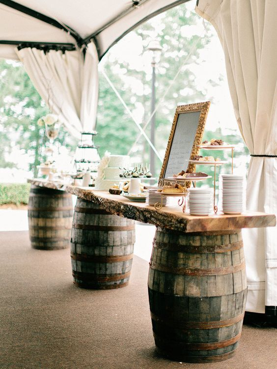 rustic dessert table decor