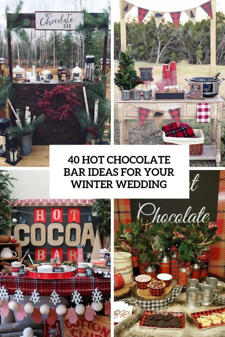 hot chocolate bar ideas for your winter wedding cover