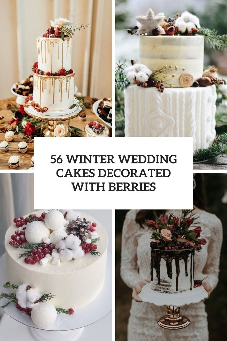 winter wedding cakes decorated with berries cover