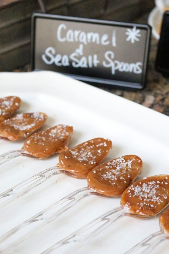 sea salt caramel spoons are amazing sweets for a hot chocolate bar