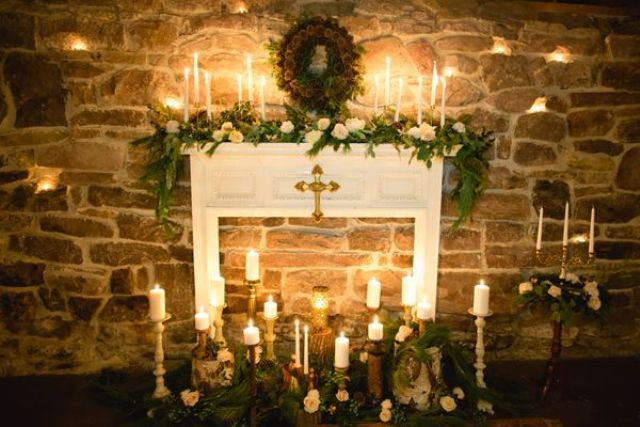 22 Cozy Fireplace D 233 Cor Ideas For Your Big Day Weddingomania