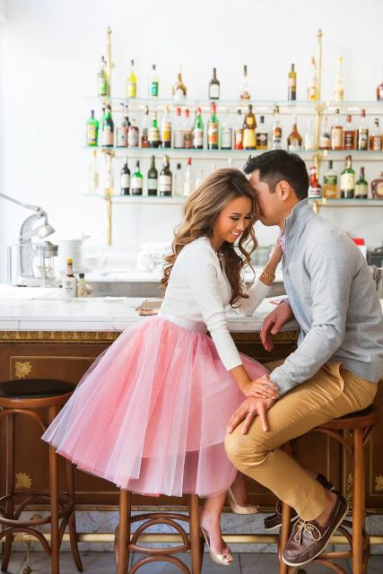 dress up and go to your favorite bar to celebrate your Valentine's Day engagement
