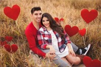 red hearts on sticks are a great idea to make your Valentine engagement very cool and bold, place them wherever you want