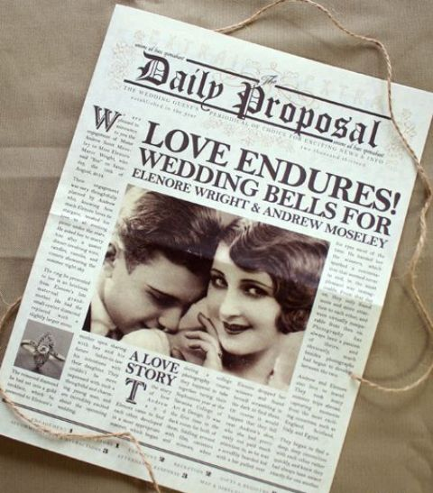 Picture Of Unusual Newspaper Ideas For Your Wedding 22