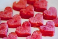 heart-shaped watermelon pieces are amazing for a Valentine's Day wedding, they can be used in various ways