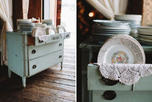 Beautiful And Practical Ways To Use A Vintage Dresser In Your Wedding