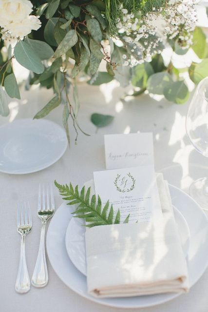 Picture Of Elegant Ways To Incorporate Ferns Into Your Wedding 26