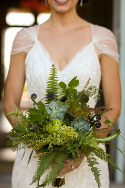 Picture Of Elegant Ways To Incorporate Ferns Into Your Wedding 9
