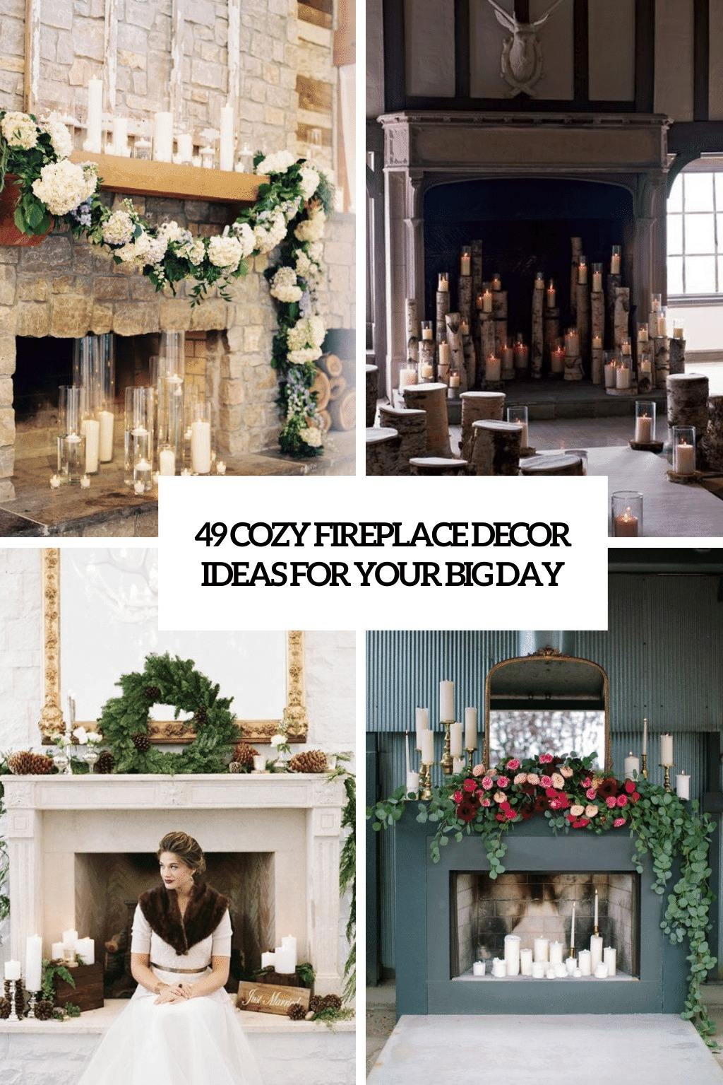 cozy fireplace decor ideas for your big day cover