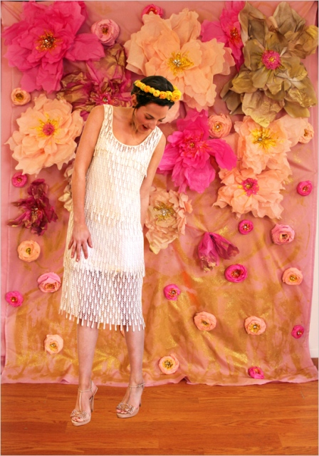 Picture of colorful diy paper flower backdrop for your wedding 10 mightylinksfo
