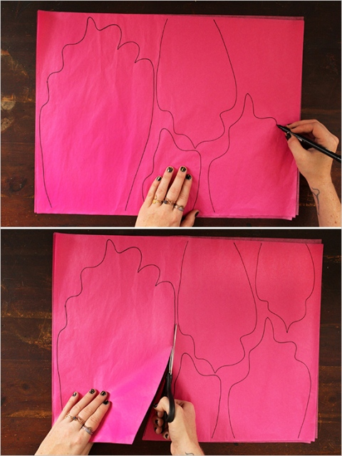Picture Of Colorful DIY Paper Flower Backdrop For Your Wedding 3