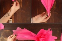 Colorful DIY Paper Flower Backdrop For Your Wedding6