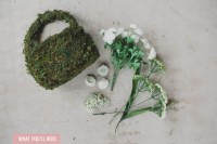 DIY Flower Girl Basket With Moss And Silk Flowers2