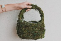 DIY Flower Girl Basket With Moss And Silk Flowers3