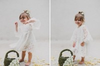 DIY Flower Girl Basket With Moss And Silk Flowers7